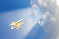 Wooden airplane model Stock Photo