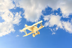 Wooden airplane model Royalty Free Stock Images