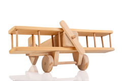 Wooden airplane toy Royalty Free Stock Photography