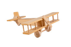 Wooden airplane toy Stock Images