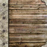 Wooden album cover with an iron rootlet Royalty Free Stock Photography