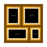 Wooden All in One Photo Frame Template Royalty Free Stock Images