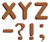 Wooden alphabet. Alphabet made from wooden planks Stock Photos