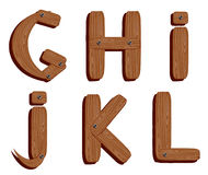 Wooden alphabet Royalty Free Stock Photos