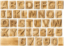 Wooden alphabet Stock Images