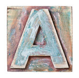 Wooden alphabet Stock Image