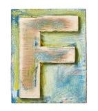 Wooden alphabet Stock Image