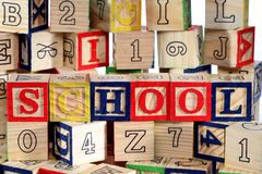 Wooden alphabet blocks Royalty Free Stock Image