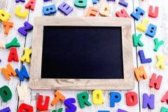 Wooden alphabet blocks Royalty Free Stock Photography