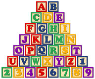 Wooden Alphabet Blocks/eps. Illustration of a set of children's wooden alphabet blocks...eps file blocks are separate and editable...spell your own words royalty free illustration