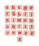 Wooden alphabet blocks isolated on white Royalty Free Stock Images