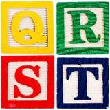 Wooden alphabet blocks Royalty Free Stock Images