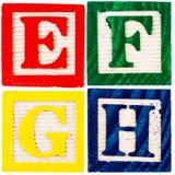Wooden alphabet blocks Royalty Free Stock Photos