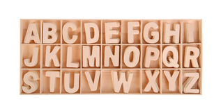 Wooden alphabet Royalty Free Stock Photography
