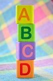 Wooden alphabet blocks toy. Close up wooden alphabet blocks toy Royalty Free Stock Images