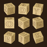 Wooden alphabet blocks Royalty Free Stock Photos