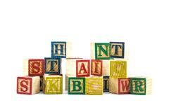 The wooden alphabet blocks Royalty Free Stock Photo