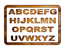 Wooden alphabet. Stock Photos