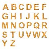 Wooden alphabet collectios Royalty Free Stock Photography