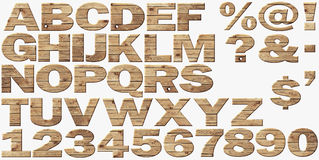 Wooden alphabet isolated on white Royalty Free Stock Photo