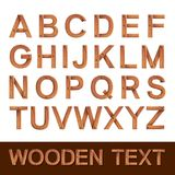 Wooden alphabet isolated Royalty Free Stock Images