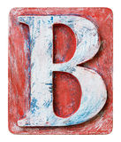 Wooden alphabet letter B Royalty Free Stock Photography