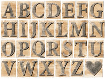 Wooden alphabet Royalty Free Stock Images