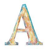 Wooden alphabet letter A Stock Images