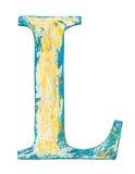 Wooden alphabet letter Stock Images