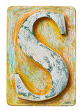 Wooden alphabet letter S Stock Photography