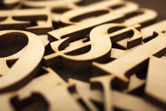 Wooden alphabet letters Stock Image