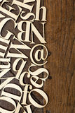 Wooden alphabet letters Stock Photos