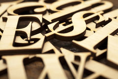 Wooden alphabet letters Royalty Free Stock Photography