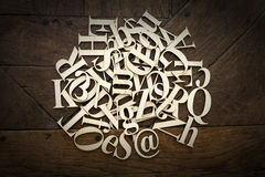 Wooden Alphabet Letters Royalty Free Stock Image