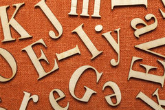Wooden alphabet letters Royalty Free Stock Photo