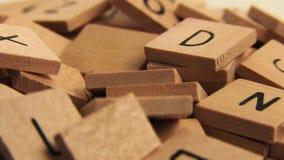 Wooden Alphabet Letters stock video