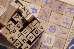 Wooden alphabet letters - words Stock Image