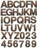 Wooden alphabet set Stock Photo
