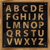 Wooden Alphabet,  set with all Letters Stock Photography