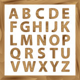 Wooden Alphabet,  set with all Letters Royalty Free Stock Image