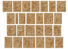 Wooden alphabet Stock Photo