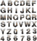 Wooden Alphabet With Gears Royalty Free Stock Images