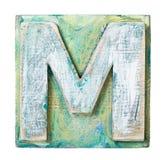Wooden alphabet Royalty Free Stock Image