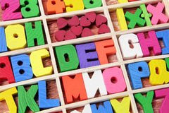 Wooden Alphabets Royalty Free Stock Image