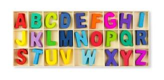 Wooden alphabets Stock Photo