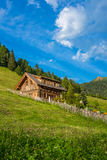 Wooden alpine cabin Royalty Free Stock Image