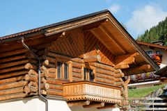 Wooden Alpine Chalet house Royalty Free Stock Images