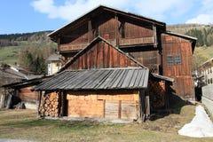 Wooden alpine cottage Stock Image