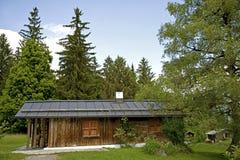 Wooden alpine house Stock Image