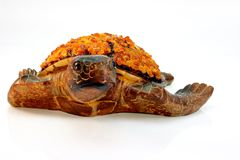 Wooden - amber turtle Royalty Free Stock Image
